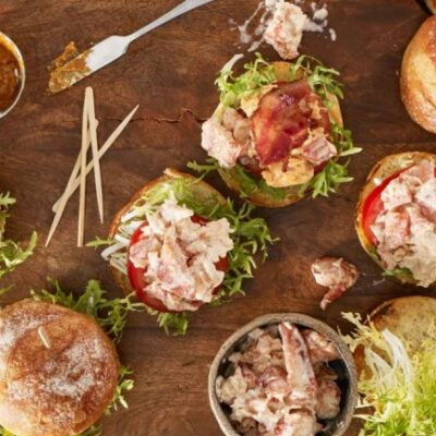 Maine Lobster Bacon and Tomato Sliders