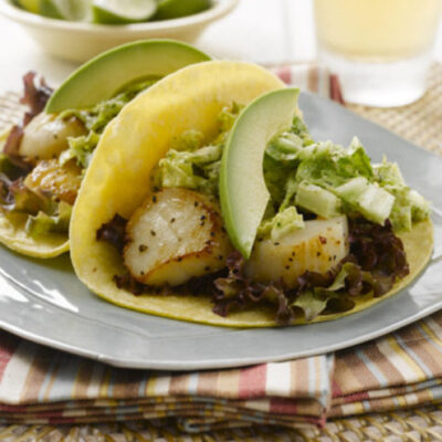 Scallop and Cashew Slaw Tacos