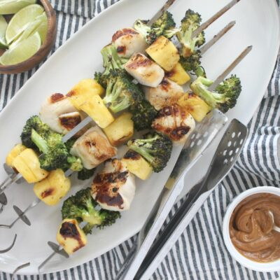 Sweet and Sour Scallop Kabobs