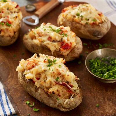 Twice Baked Potatoes with Maine Lobster