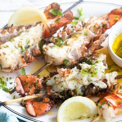 Grilled Maine Lobster Tails with Lemon Herb Butter