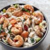 Shrimp And Rice Noodle Seafood Meal