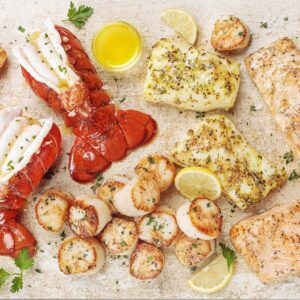 Maine Wild Caught Lobster Tails Alaskan Cod And Salmon Fillets Wild Caught Sea Scallops