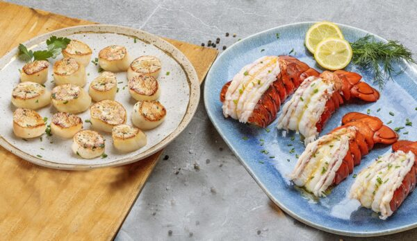Seafood Duo For Two Wild Caught Sea Scallops Maine Lobster