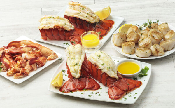 Seafood Trio For Four Or More Wild Caught Lobster Tails Lobster Meat Sea Scallops