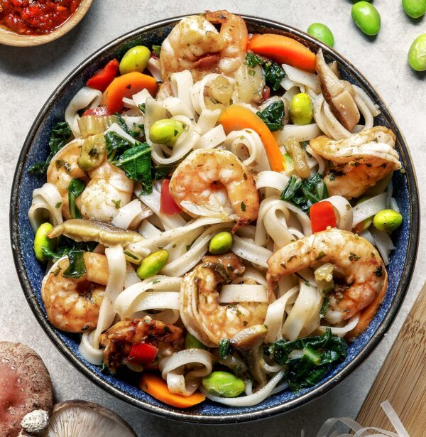 Shrimp And Rice Noodle Meal