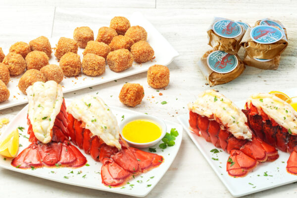 My Maine Lobster Feast Maine Lobster Tails Lobster Mac And Cheese Bites Maine Lobster Butter